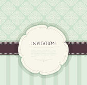 Invitation vintage background — Stock Vector