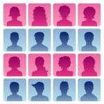 Man and woman avatars — Stock Vector #13717232