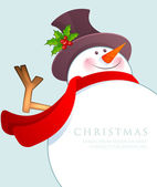 Christmas Snowman — Stock Vector