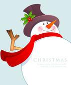 Christmas snögubbe — Stockvektor