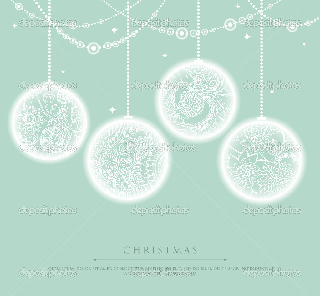 Vector illustration of Christmas balls — Stock Vector #13717241