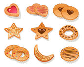 Set of different cookies — Stock Vector