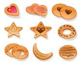 Set of different cookies — Stock Vector