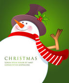 Christmas Snowman wiht red scarf — Stockvektor