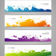 Vegetables colorful doodles set — Vector de stock