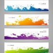 Vegetables colorful doodles set - Image vectorielle