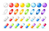 Icons tablets and pills — Stock Vector