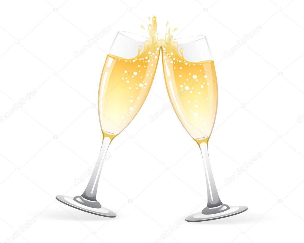 Copas de champagne vector de stock sonneon 14044574 for Copas para champagne
