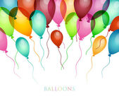 Background with colored balloons — Stock Vector