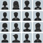 Man and woman avatars — Stock Vector