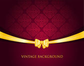 Vintage fond avec archet — Vecteur