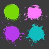 Set of color splash — Stock Vector