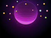Abstract glow disco ball — Stock Vector