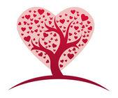 Drzewo miłości stylizowane — Wektor stockowy