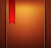 赤いステッカー革背景 — ストックベクタ