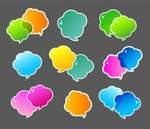 Barevné bubliny — Stock vektor