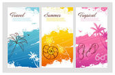 Color summer set with splash — Stock Vector