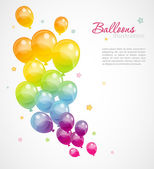 Background with colorful balloons — Stock Vector