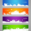 Stock Vector: Splash designs set