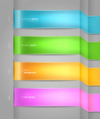 Colore origami banner stile — Vettoriale Stock