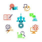 Education icons set — Wektor stockowy