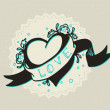 Vintage heart — Stock Vector