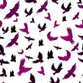 Birds in seamless pattern — Stock Vector