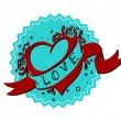 Vintage heart — Stock Vector #33285569