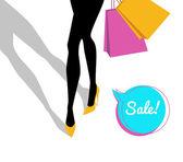 Shopping girl — Stockvector