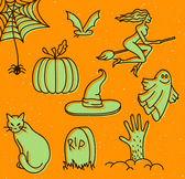 Halloween čmáranice — Stock vektor