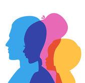 Family icons head — Stock Vector