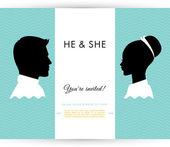 He & She — Stock Vector