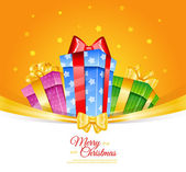 Colorful gift boxes with bows — Stock Vector