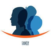Capo famiglia icone — Vettoriale Stock