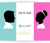 He & She — Stock Vector