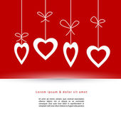 Valentine's card with hearts — Stock Vector