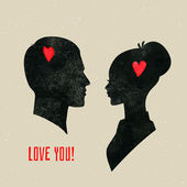 He & She — Vector de stock