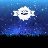 Good night design — Stock Vector