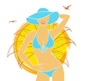 Summer woman — Stock Vector