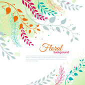 Watercolor floral — Stock Vector