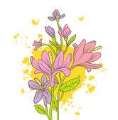Watercolor floral — Stock Vector
