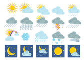 20 weather icons — Stock Vector
