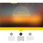 Blurred web design template — Stock Vector