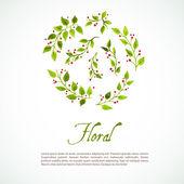 Akvarel květinové — Stock vektor