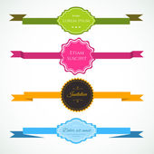 Ribbon's colorful set — Wektor stockowy
