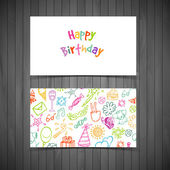 Happy birthday cards — Stock Vector