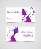 Beautiful woman cards — Stock Vector