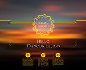 Blurred web design template — Stock vektor