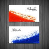 Watercolor design cards — Stock Vector