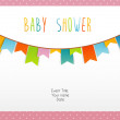 Baby shower card — Stock Vector